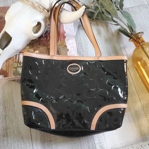 Coach Peyton Embossed Patent Leather Handle Tote